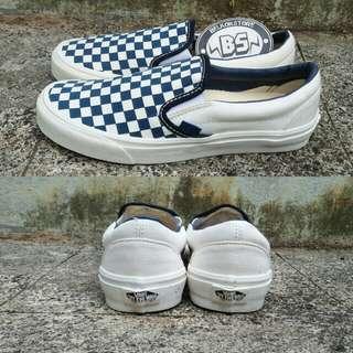 Vans slipon og lx checkerboard navy cream