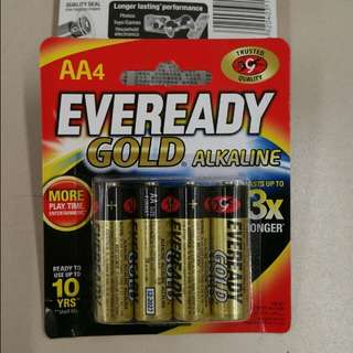 [SALE] Eveready Gold Alkaline AA 4pcs 1.5V