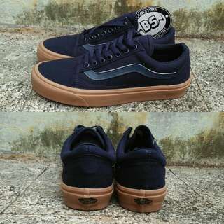 Vans oldskool dk dress blue rubber sole gum