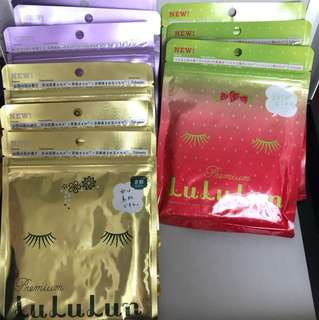 Lululun 7 day sheet Mask - japan limited collection