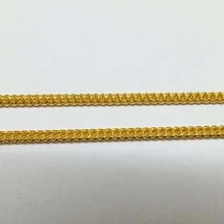 916 gold flat chain