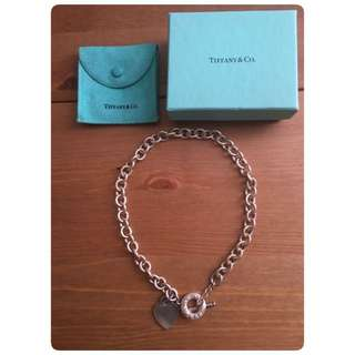 Tiffany & Co heart shaped toggle necklace (authentic )