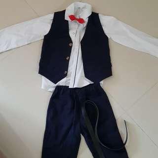 Boy bow tie suit
