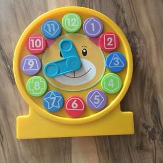 Ideal for learning shapes, colors and time