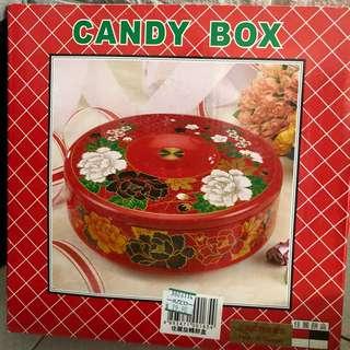 全新 吉之島 新年 紅色 全盒 糖果盒 佳麗 旋轉 餅盒
