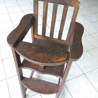 Wooden baby chair