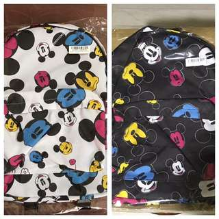 Disney backpack black white
