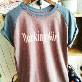 T shirt / Kaos Sweater bordir lengan pendek zara h&m