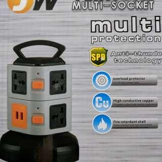 Vertical Multi-Socket plug