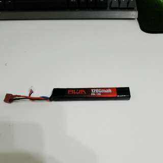 Lipo battery 1200mah 20C 7.4V wargame airsoft