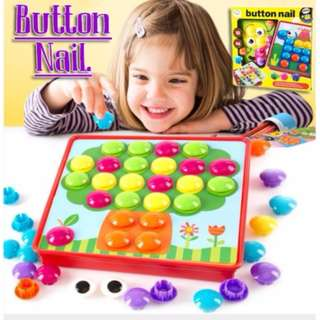 Toyzen mushroom nail button combination fight card color cognitive hand-eye coordination training early childhood educational toys
