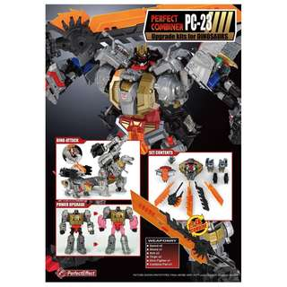 Preorder for Perfect Effect PC-23 Upgrade Kits for Dinosaurs (POTP dinobots), Price=S$45