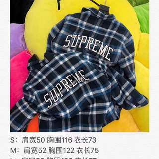 Supreme 17 藍格jacket 只做市面最強版本 專業