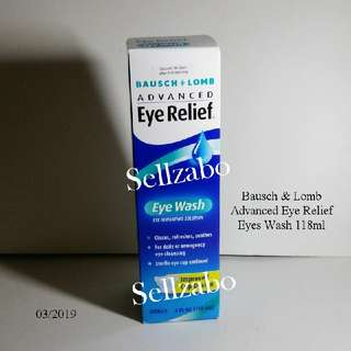 Eyes Wash : Bausch & Lomb Advanced Relief Irrigating Solution Cleaning Refreshing Soothing Sellzabo