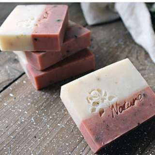 Rose with Pearl Powder Soap Bar (Vegan, handmade via cold process method)