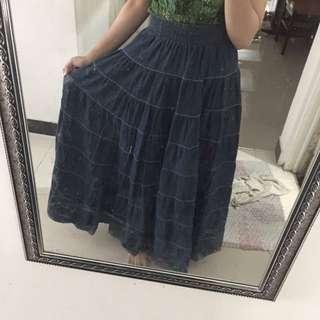 Nyla long jeans skirt