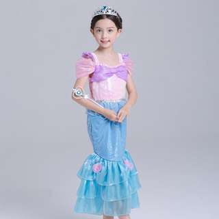 Fantasy Ariel Mermaid Cosplay Costume Princess Dress