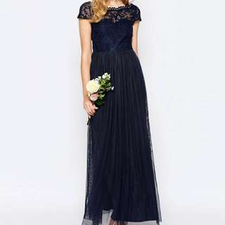 NEW Formal Navy Maxi Dress
