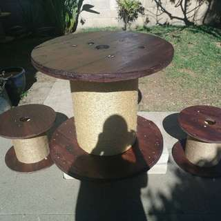 Unique table and stools