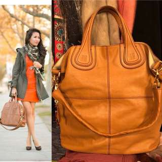 Givenchy light brown leather handbag