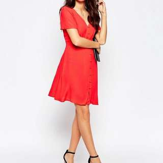 NEW Style London Orange/Red Tea Dress