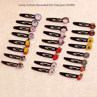 Lovely Cartoon Decorated Hair Clip(1pair) E35968