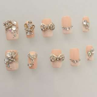 French nail acrylic extensions