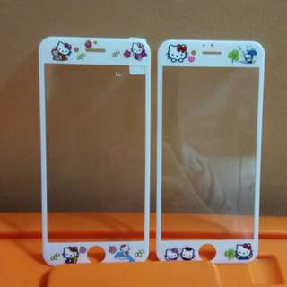 Hello Kitty tempered glass for iphone 6/6s