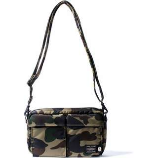 全新 Bape x Porter 1st GREEN Camo Shoulder Bag