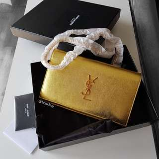 Authentic YSL Yves Saint Laurent Classic Kate Monogram Chain Wallet