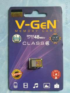 Micro sd mmc vgen 16gb class 6 ori