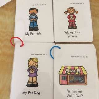 Sight words reader well laminated