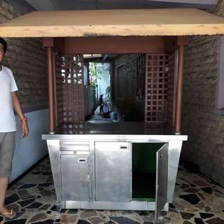 Pure Stainless Steel Food Cart