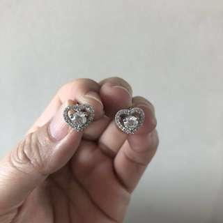 仿鑽石耳環