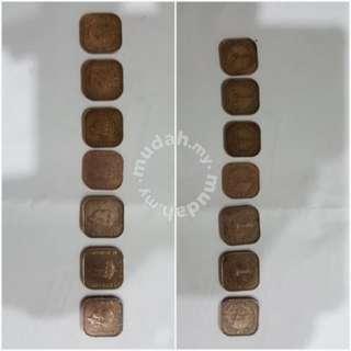 OLD MALAYA COINS