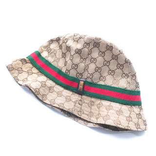 100% Real Gucci Monogram Hat 經典漁衭帽