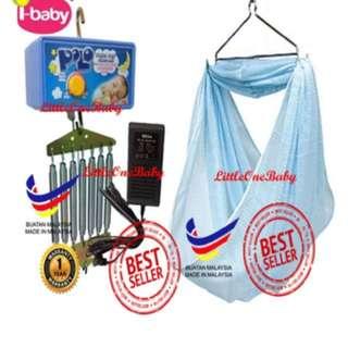 COMPLETE SET POLO ELECTRONIC BABY CRADLE (Set Lengkap Buai Baby Elektrik)