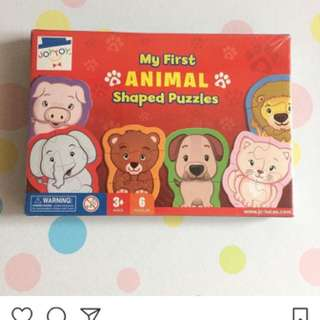 My First Animal Shaped Puzzles