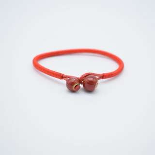 Red strings for luck & protection w/ agate gemstones