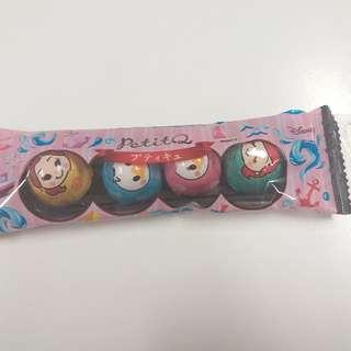 (包郵) Disney chocolate 迪士尼朱古力 4 粒 x 1pack