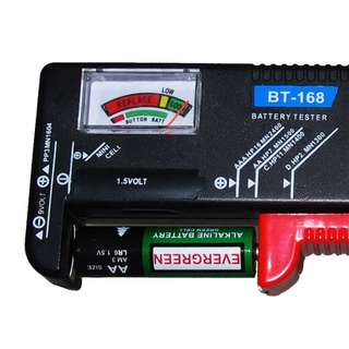 Battery Tester for AA / AAA / C / D / 9V  Cell Button Voltage LCD Meter Display
