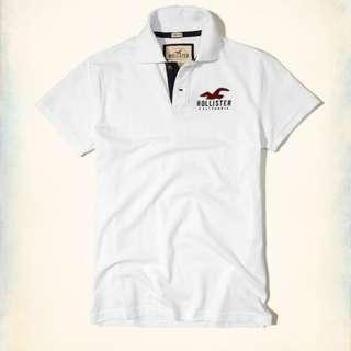 小麥代購全新XS/M號Hollister hco海鷗 白色年輕休閒polo衫