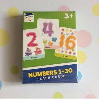 Joytoy Numbers 1-30 Flash Cards