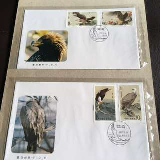 20.3.87. China FDC T114 Birds of Prey