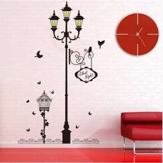 READY STOCK! Lamp stand Removable Wall Poster for Bedroom