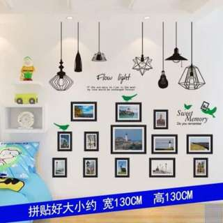 READY STOCK! Photo Frame Lamp Removable Wall Poster