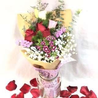 (PO) Valentine's day Bouquet (Without vase)