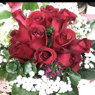 (PO) Red Rose Bouquet