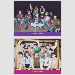 wanna one nothing without you 紫紅2版海報 (卷起)$20@1