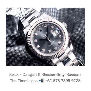 Rolex - Datejust II, Diamonds Index, Rhodium Grey Random